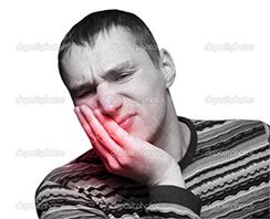 Oral Surgery Sutton - Man in a teeth pain